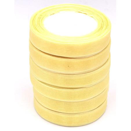 Nastro di organza colore giallo