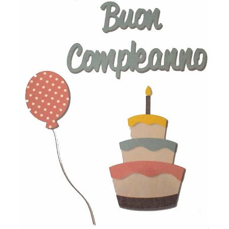 Fustella bigz L con scritta buon compleanno