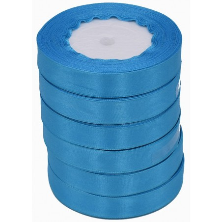 Nastro raso color azzurro 22,5 m