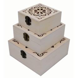 Scatolette in legno set da...