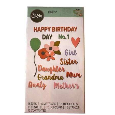 Fustella thinlits happy birthday