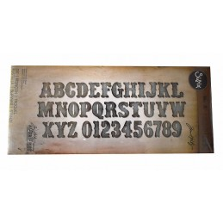 Fustella bigz XL alfabeto maiuscolo con numeri