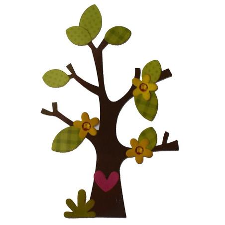 Fustella bigz albero fiore cuore foglie