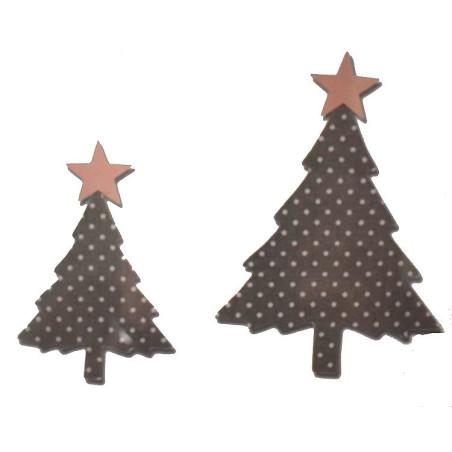 Fustella bigz due alberi pini con stelle