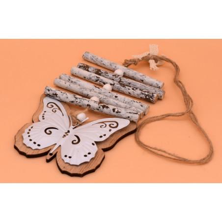 Accessori shabby in legno e ferro farfalla
