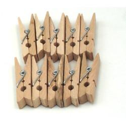 Mollette fermacarte in legno