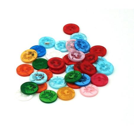 Bottoni colorati in plastica 35 pz