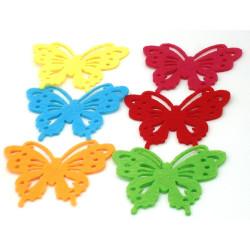 Farfalle di feltro con adesivo