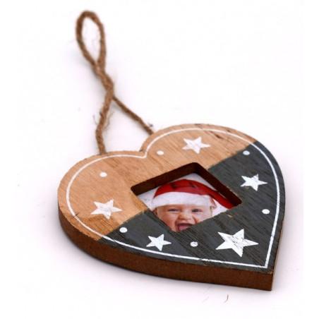 Portafoto a forma di cuore natalizio