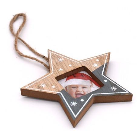 Portafoto natalizio a forma di stella