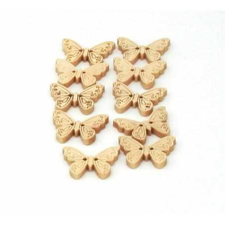 Bottoni di legno a forma di farfalle