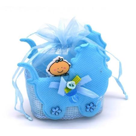 Bomboniere nascita bimbo colore azzurro