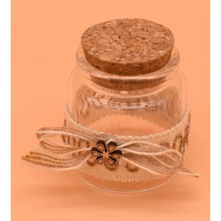 Bomboniere contenitore di vetro con tappo in sughero