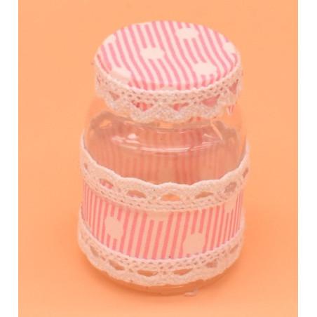 Bomboniere portaconfetti per la nascita colore rosa