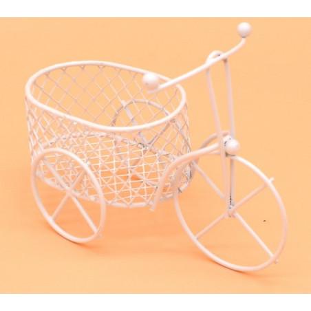 Portaconfetti in ferro forma di triciclo