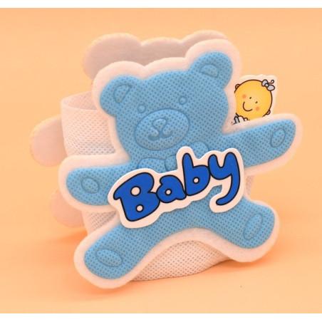 Portaconfetti per le bomboniere in stoffa nascita bimbo
