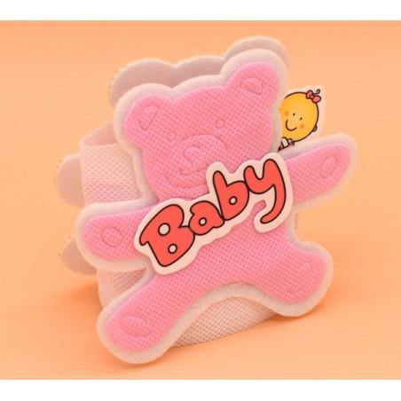 Bomboniere portaconfetti in stoffa colore rosa nascita bimba